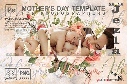 Mother's Day Digital Photoshop Template V5 - 1447835