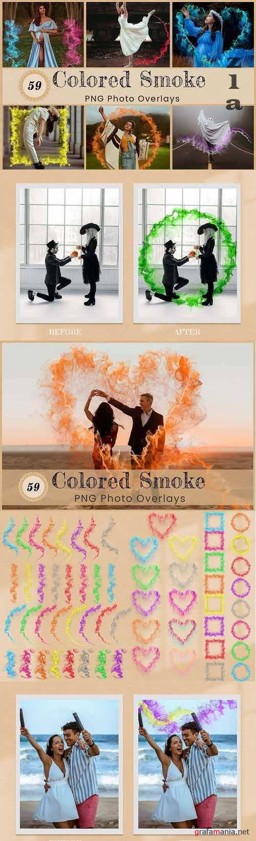 Colored Smoke PNG Overlays Backdrops - 6589313