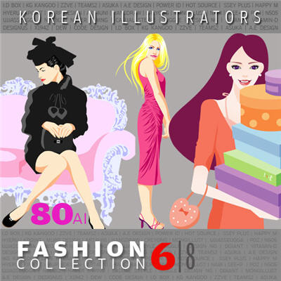 Vector Collections of Korean Illustrators - Fashion Collection 6