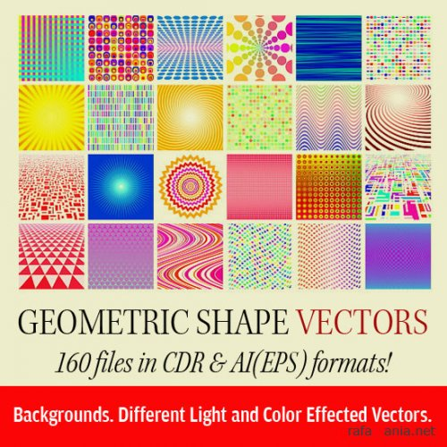 160 Geometric Vector Shapes in CDR & EPS!