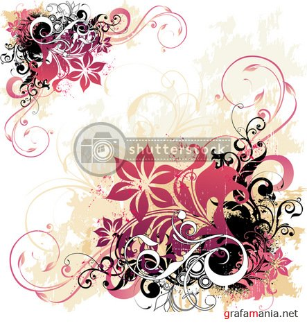 ShutterStock Floral Vector Background