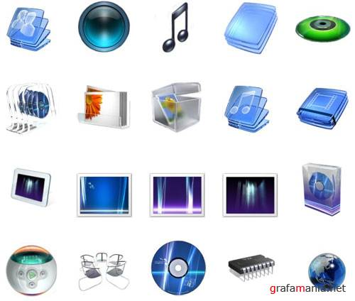 Glass style icons