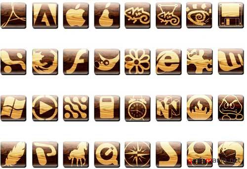 Wooden soft  icons