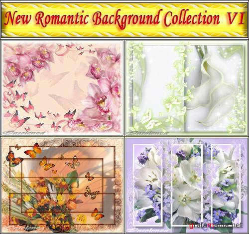 New Romantic Background Collection VI (PSD)