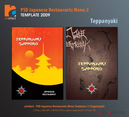 artefact - PSD Japanese Restaurants Menu Templates2 (Teppanyaki)