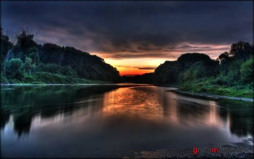Donau Sunrise HDR Widescreen Wallpaper