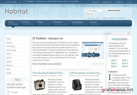 It Habitat Joomla Template - 2009 Theme