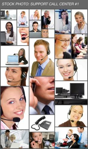Stock Photos: Call center customer support #1