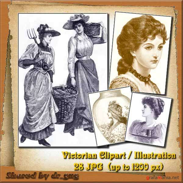 Victorian Clipart / Illustrations