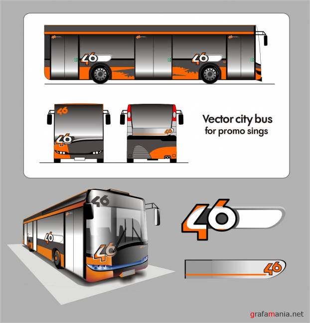 City bus vector illustration