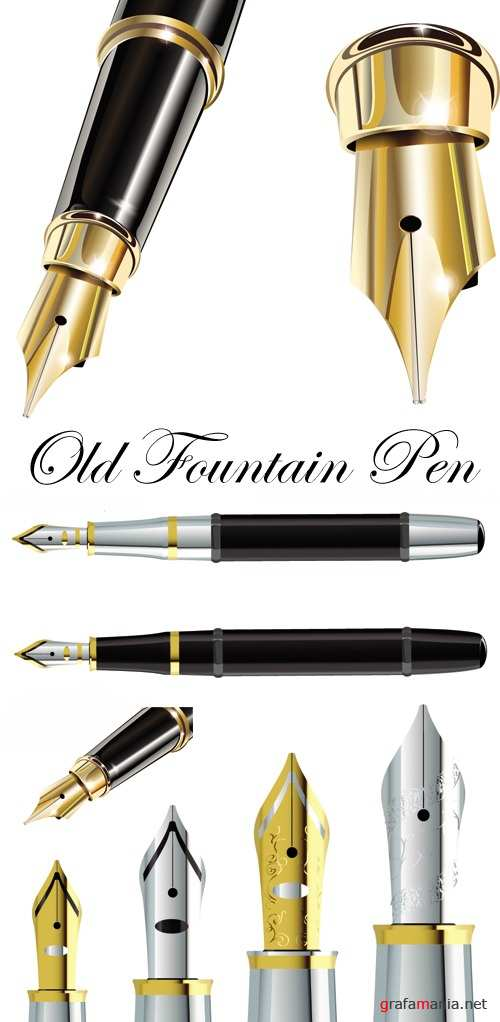 Old Fountain Pen Vector