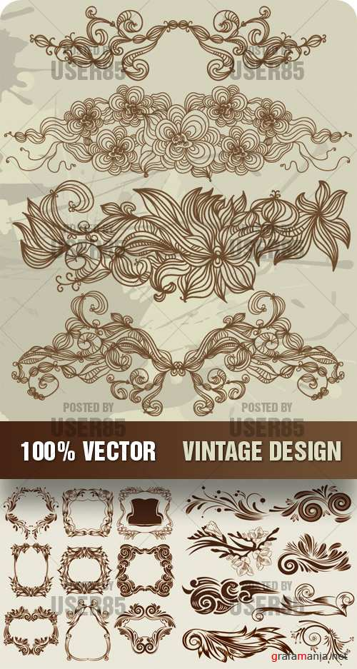 Stock Vector - Vintage Design