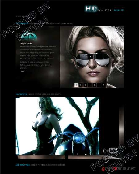 Activeden HD XML Template featuring Youtube