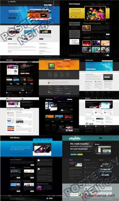 Templates Website Dynamic XHTML in April P6