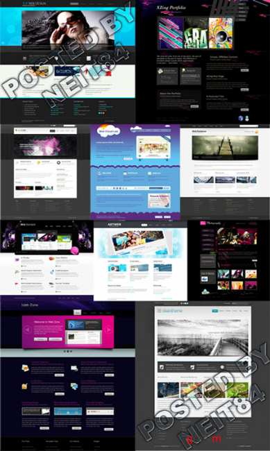 Templates Website Dynamic XHTML in April P7