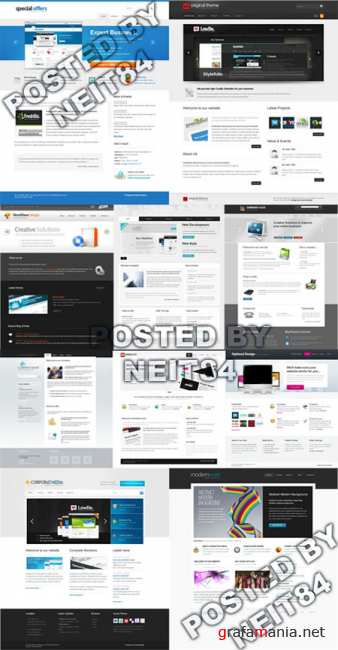 Templates Website Dynamic XHTML in April P9