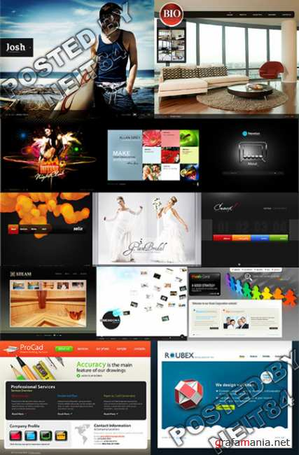 13 Flash Template Website K26 END PACK