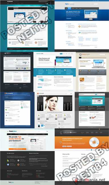 Templates Website Dynamic XHTML in April P11