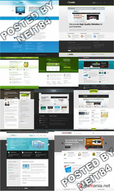 Templates Website Dynamic XHTML in April P12