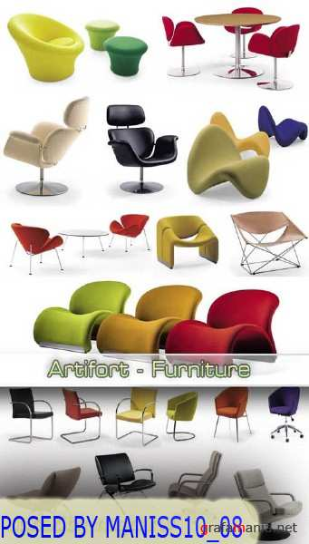 3D models of Artifort Furniture 3d model  format 3ds + max  398 models  103 Mb RAR