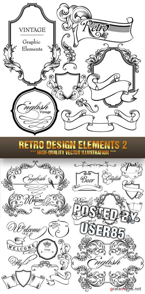 Stock Vector - Retro Design Elements 2