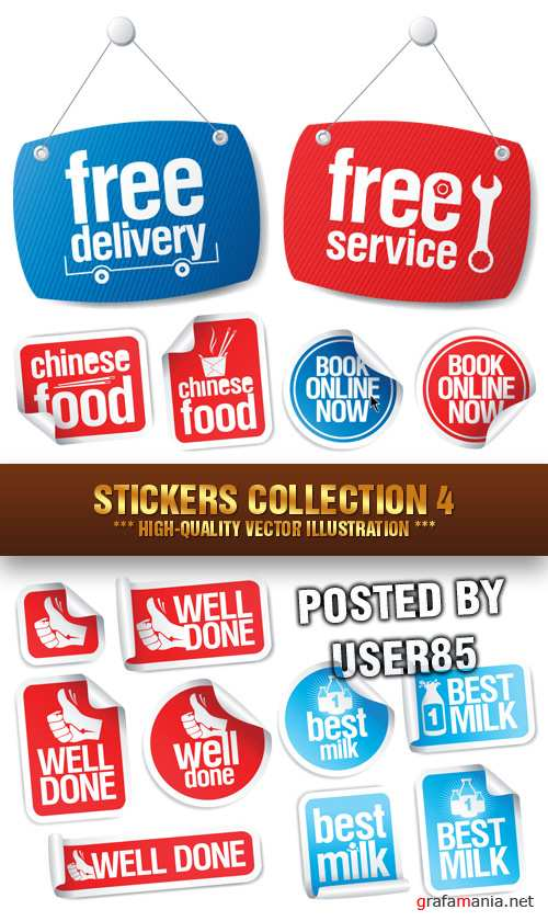 Stock Vector - Stickers Collection 4