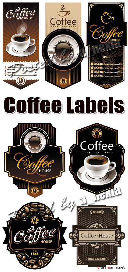 Coffee Labels Vector 2