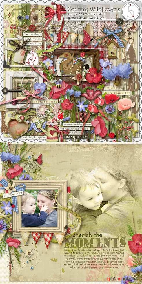 Scrap kit  Country Wildflowers