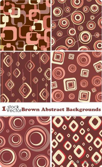 Brown Abstract Backgrounds Vector