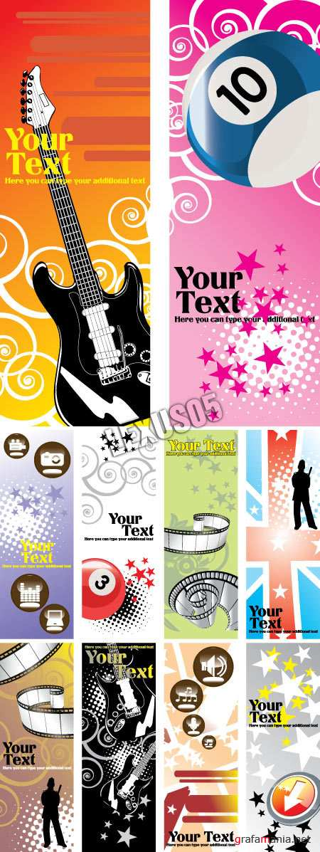 Assorted Vector Banners