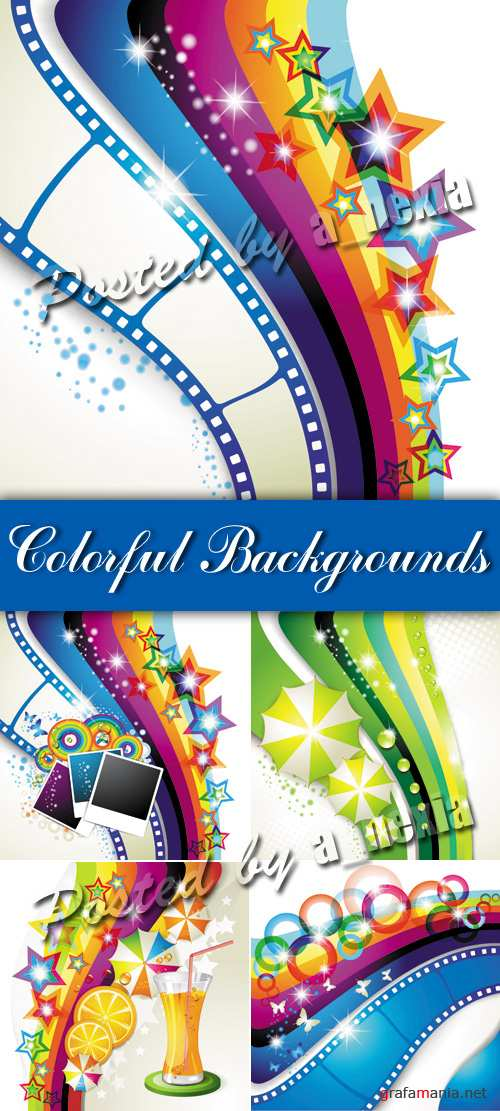 Colorful Abstract Backgrounds Vector