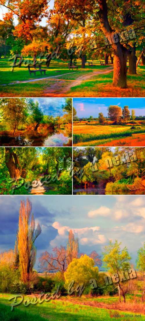 Stock Photo - Painting Landscapes