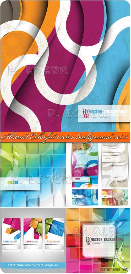 Abstract Colorful vector background set 5