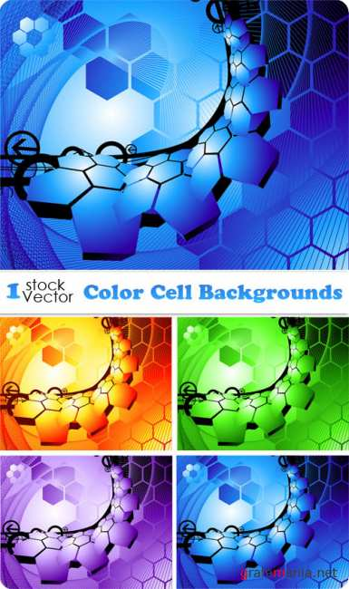 Color Cell Backgrounds Vector