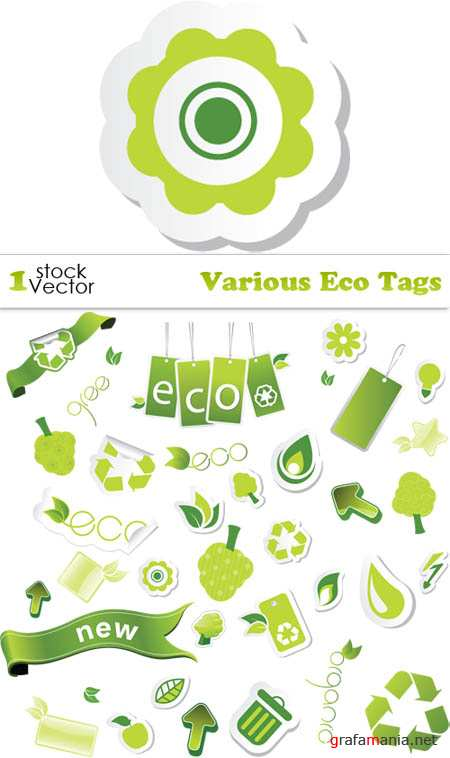 Various Eco Tags Vector