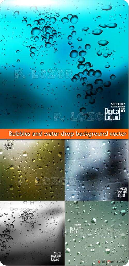 Пузыри и капли фоны | Bubbles and water drop background vector