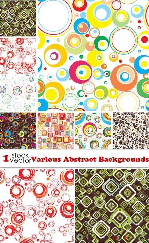 Various Abstract Backgrounds Vector