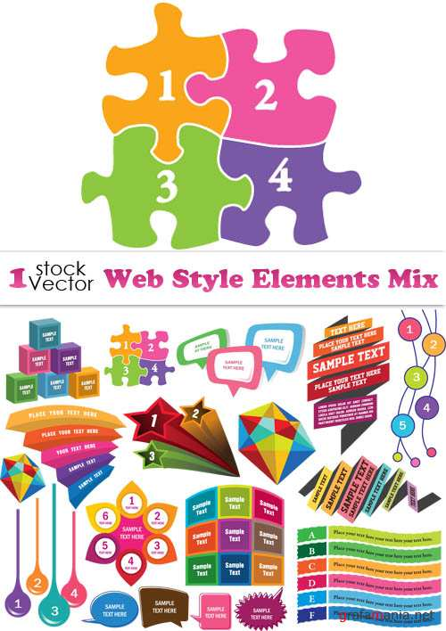 Web Style Elements Mix Vector