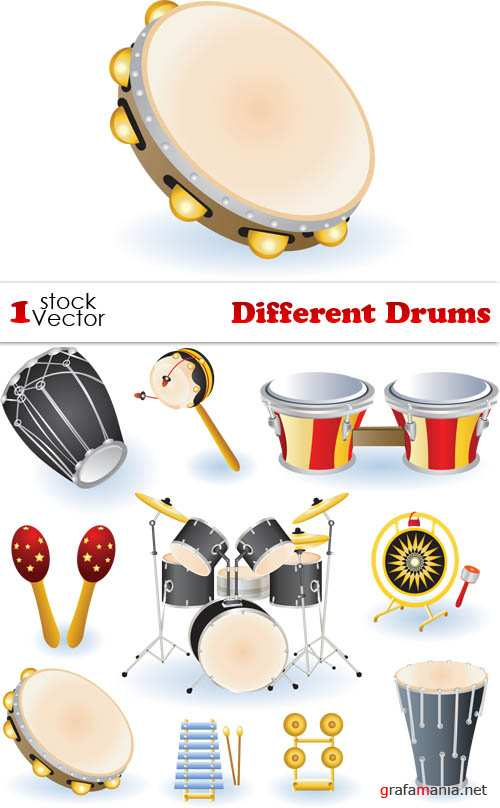 Different Drums Vector