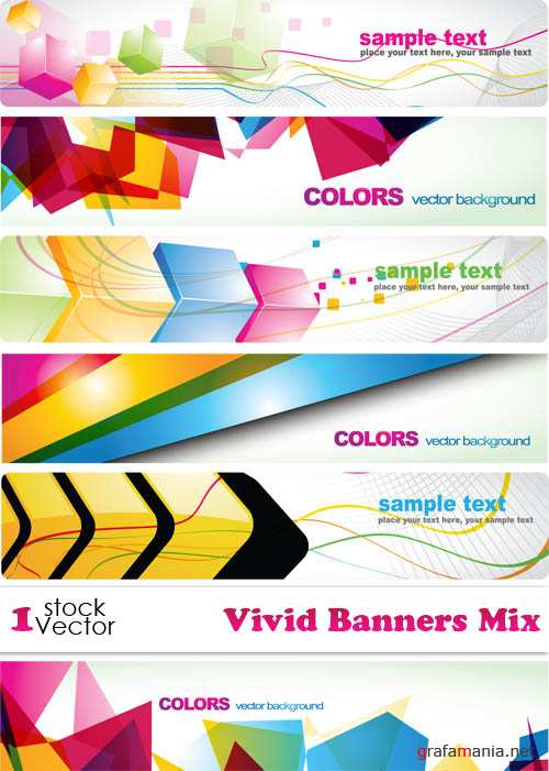 Vivid Banners Mix Vector