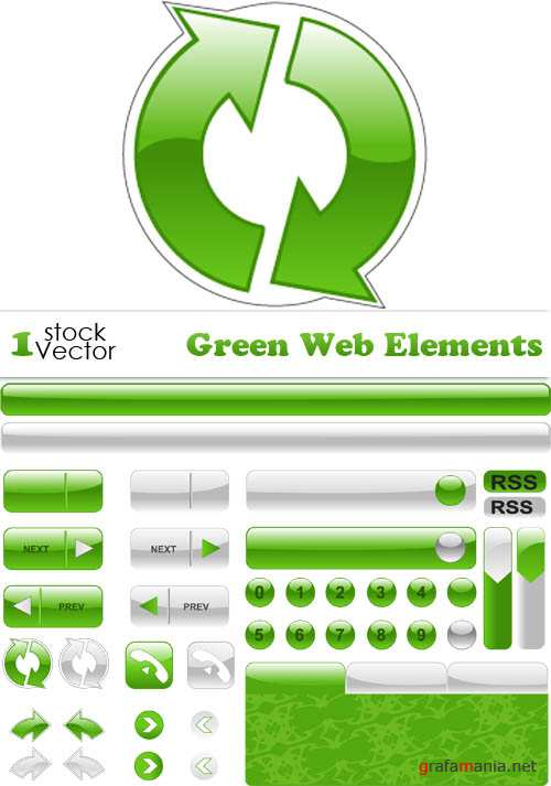 Green Web Elements Vector