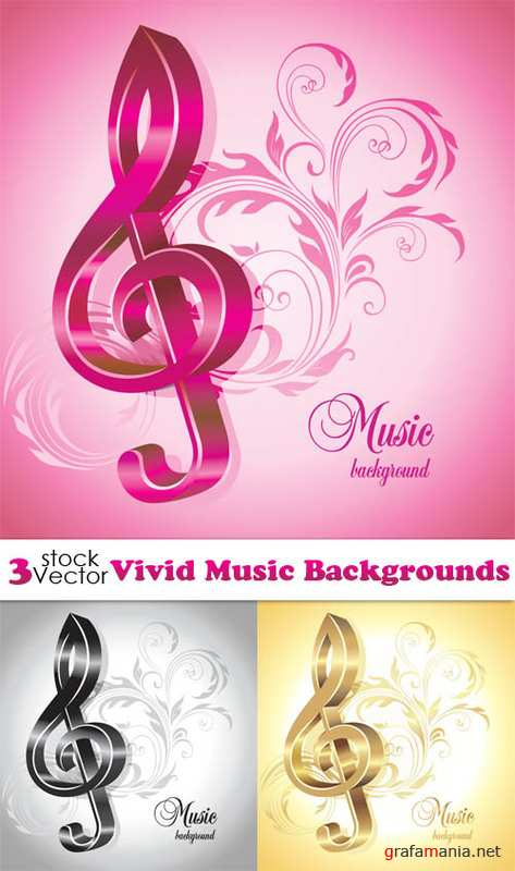 Vivid Music Backgrounds Vector
