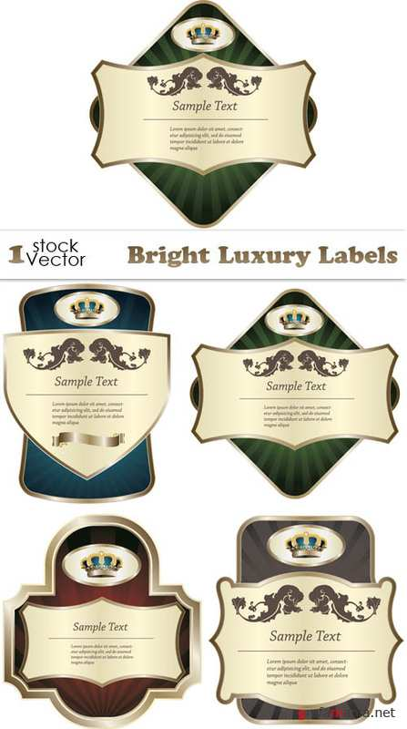 Bright Luxury Labels Vector