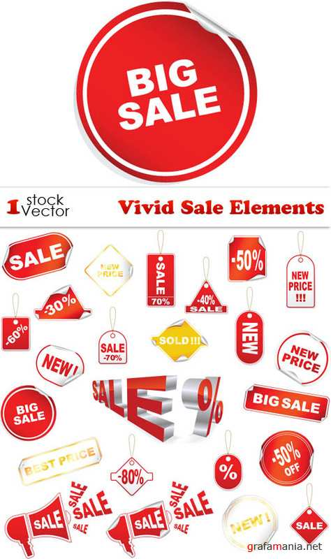 Vivid Sale Elements Vector