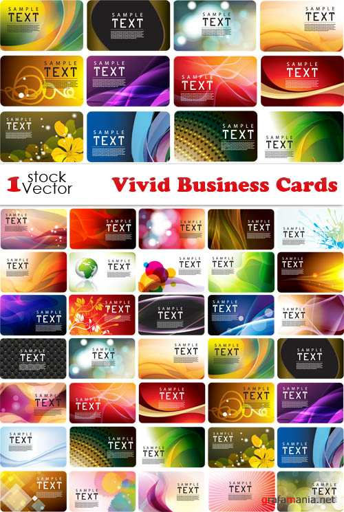 Vivid Business Cards Vector