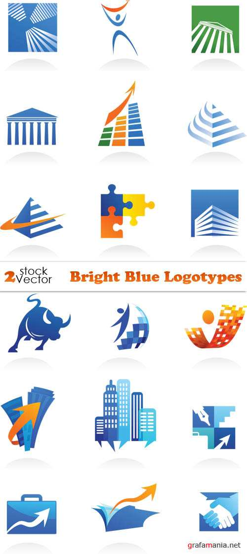 Vectors - Bright Blue Logotypes
