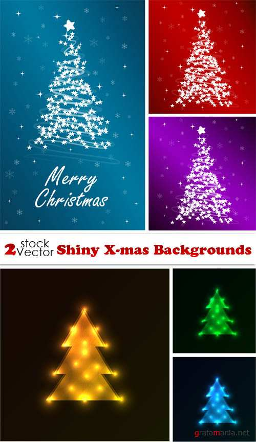 Vectors - Shiny X-mas Backgrounds