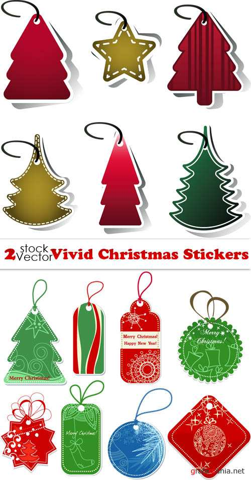 Vectors - Vivid Christmas Stickers