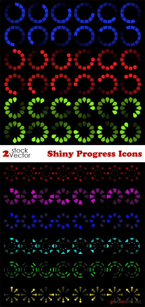 Vectors - Shiny Progress Icons