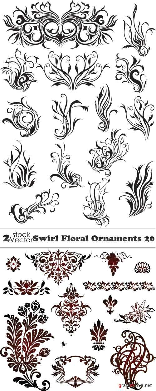 Vectors - Swirl Floral Ornaments 20